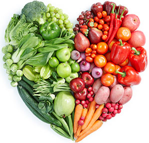 healthy vegetables heart