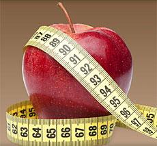 diet apple measuring tape