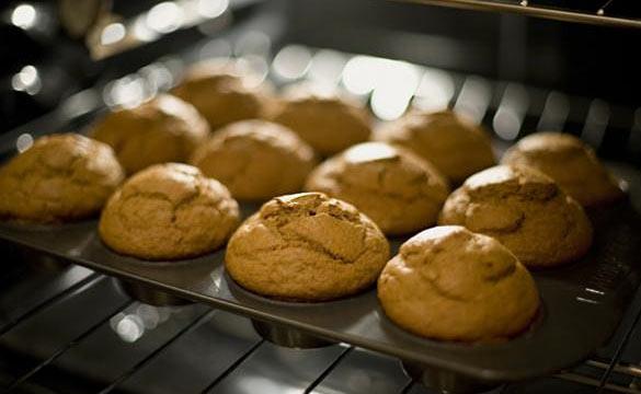pumpkin cacao muffins