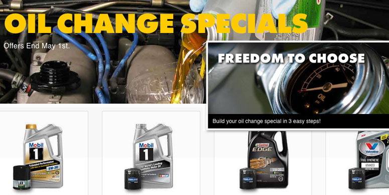 oil change specials advance auto