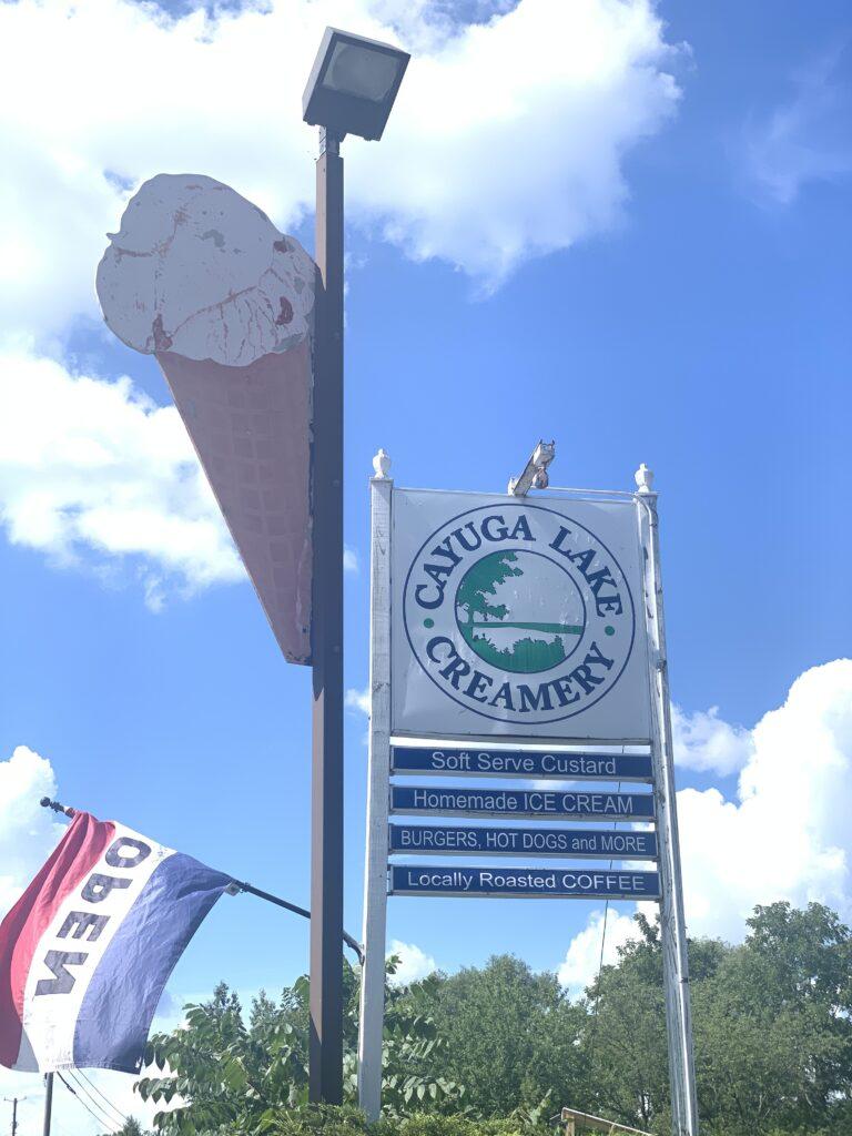 Cayuga Lake Creamery Sign