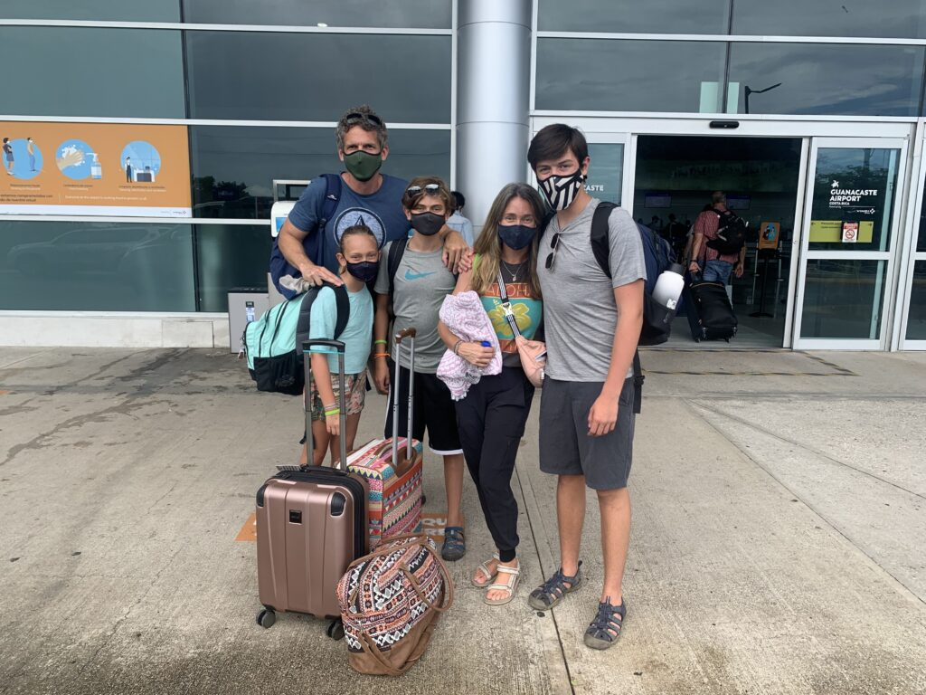 Our Family departing Guanacaste Airport