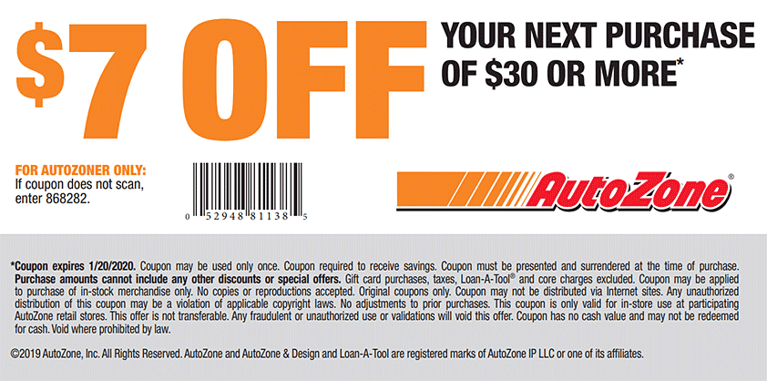 Like AutoZone coupons? Try these...