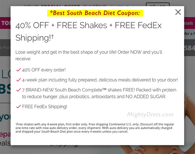 best coupon south beach diet