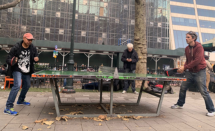 braynt park nyc ping pong