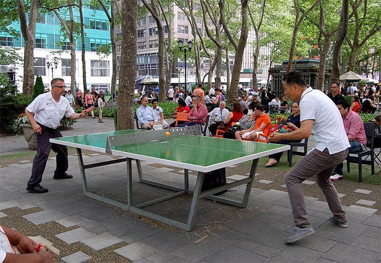 ping pong bryant park