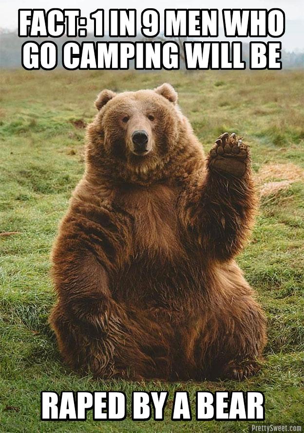 bear meme camping rape