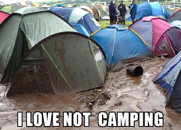 funny mud tents camping hate