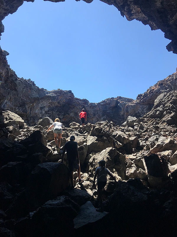 climbing craters moon national park idaho