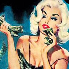 coupon woman blonde