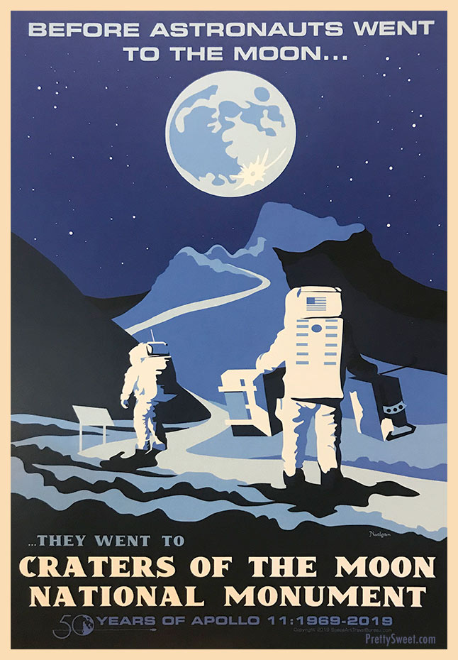 craters moon poster astronauts apollo