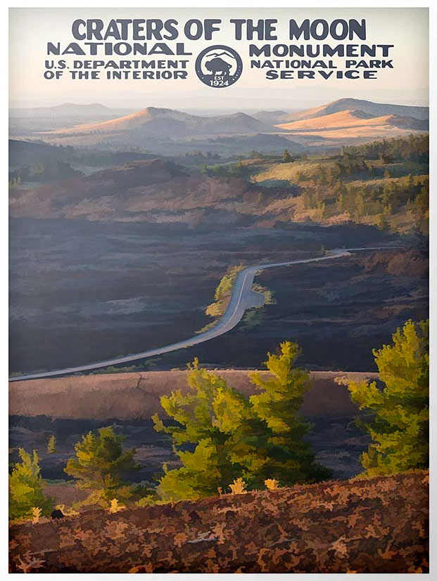 craters of the moon national park poster