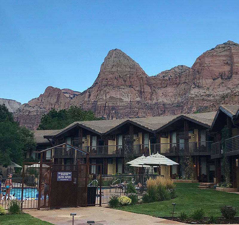 the pool at the Desert Pearl Inn