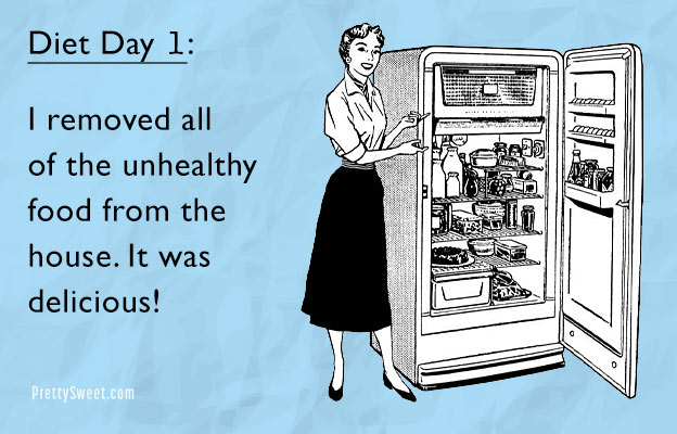 diet day one funny ecard