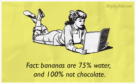 funny diet pic banana