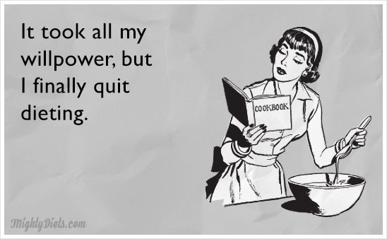 funny finally quit diet ecard