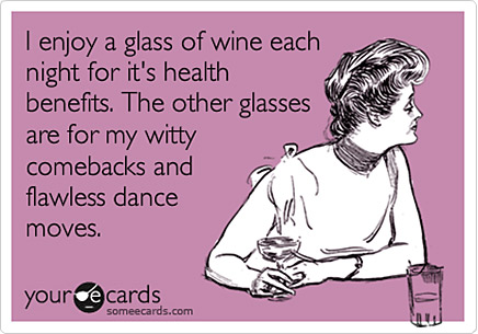 wine health benefits funny