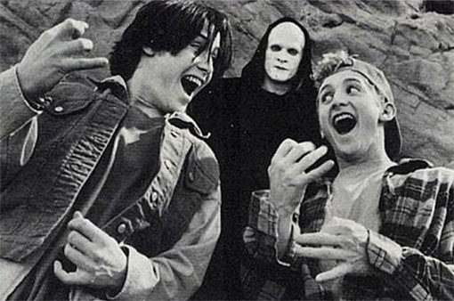 bill and ted with death
