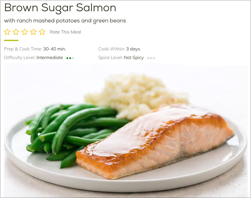 home chef brown sugar salmon recipe