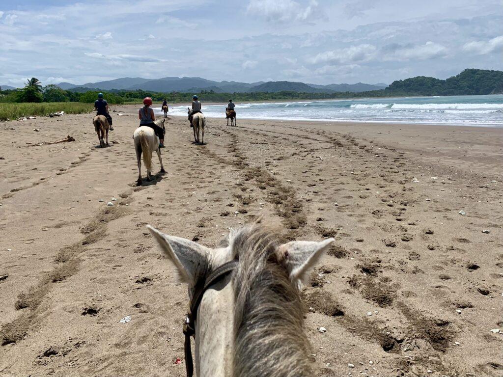 Horseback riding on Playa Buena Vista, Costa Rica