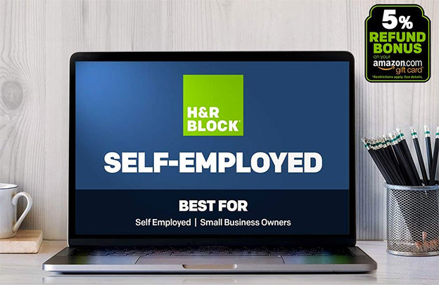 h&r block self employed software