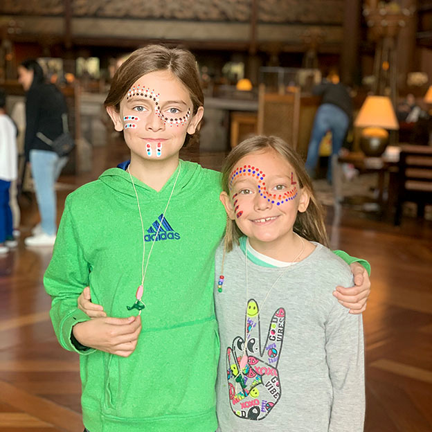 Happy kids at Animal Kingdom Lodge