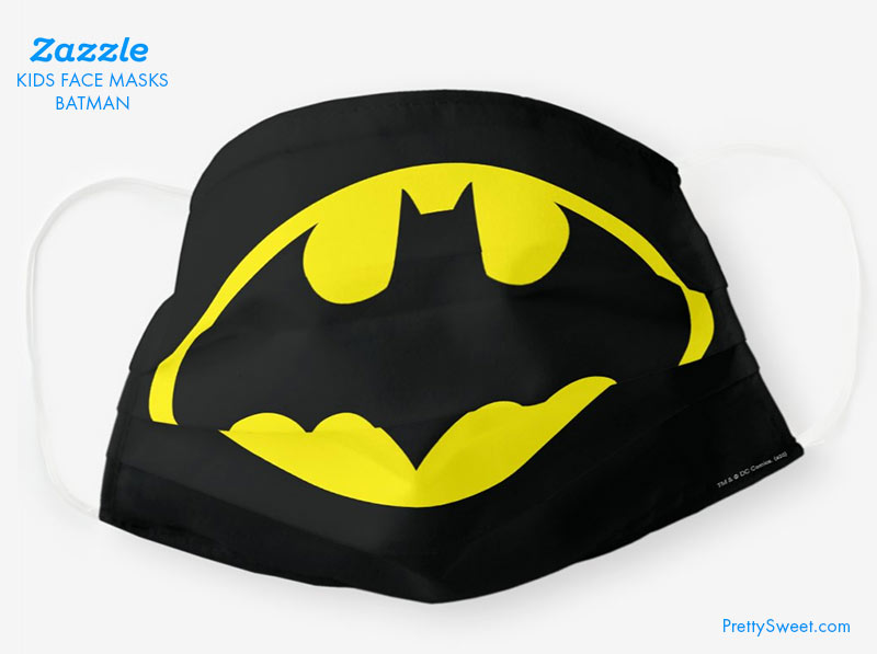 kids face mask batman design