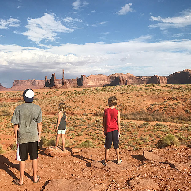 kids at monument valley