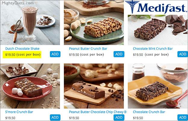 medifast food cost