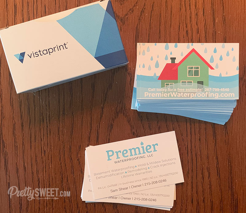 vistaprint business cards with box
