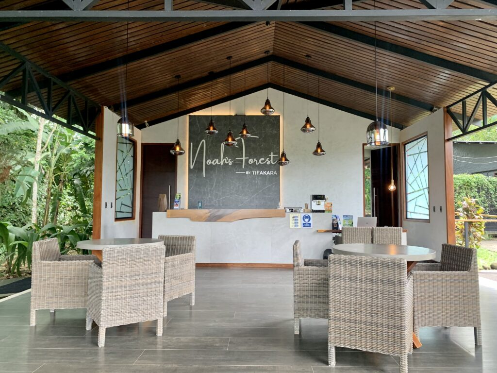 The Lobby at Noah's Forest in La Fortuna, Costa Rica