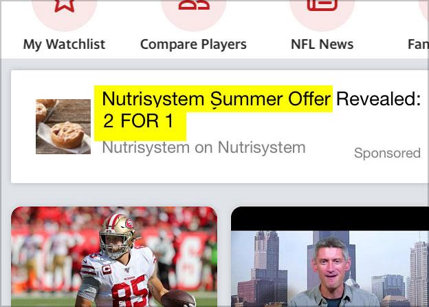 nutrisystem for men 2 for 1 sale ad
