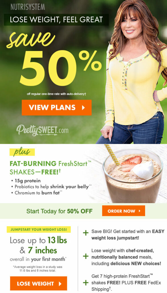 nutrisystem 50% off spring sale