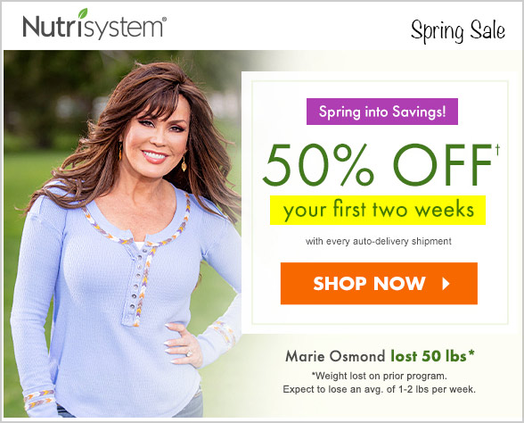 osmond nutrisystem 50 off spring sale