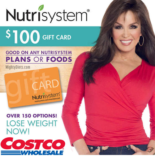 nutrisystem costco gift card_discount