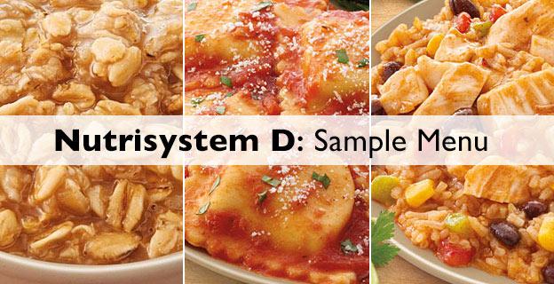 nutrisystem diabetes sample menu
