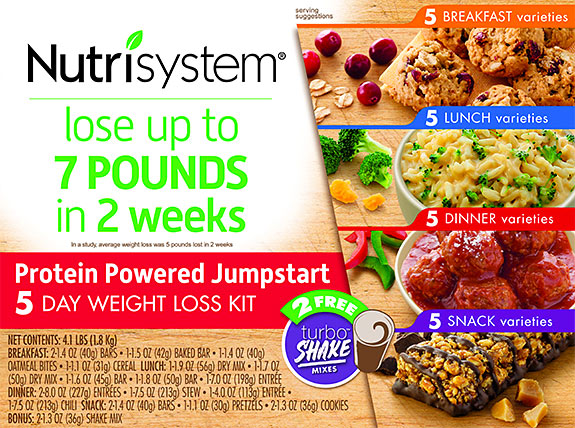 nutrisystem 5 day kit protein powered