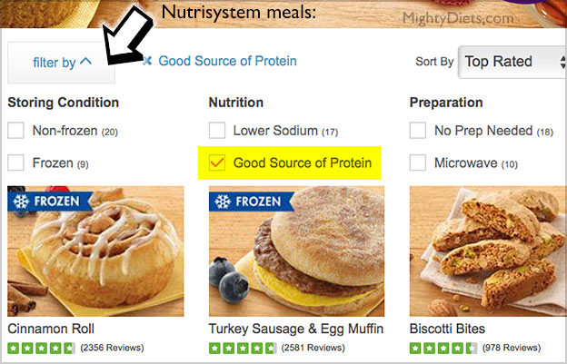 nutrisystem meal options