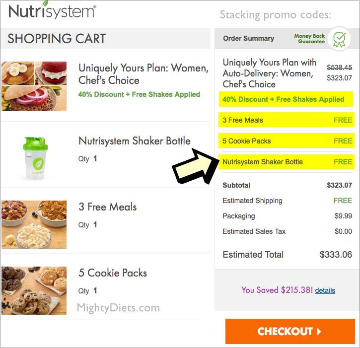 nutrisystem 40 off plus promo codes