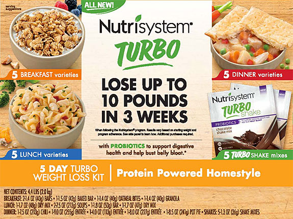 nutrisystem turbo 5 day kit