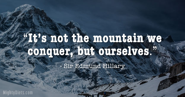weight loss quote mountain