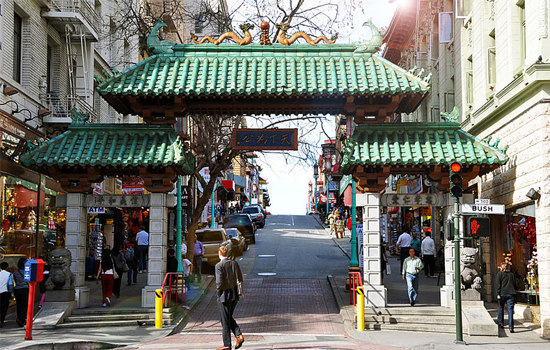 san francisco china town gate
