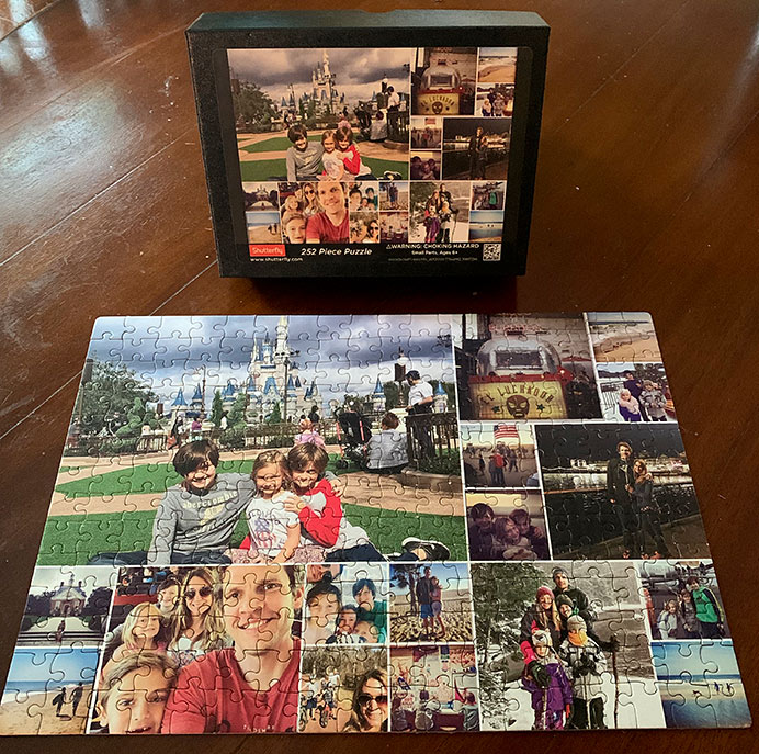 shutterfly puzzle with box