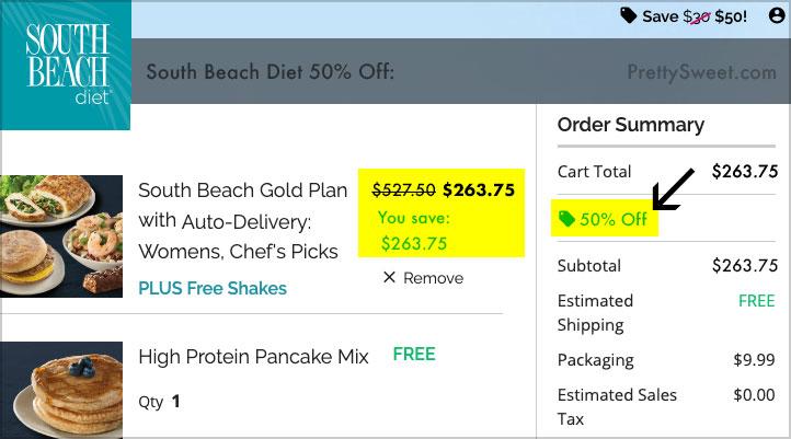 south beach diet 50 off savings