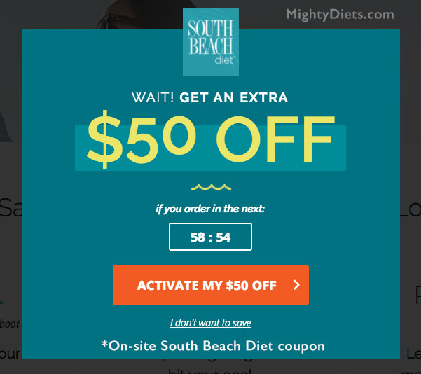 south beach diet coupon 50