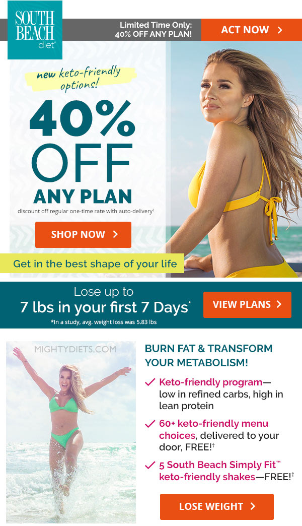 south beach diet keto plan