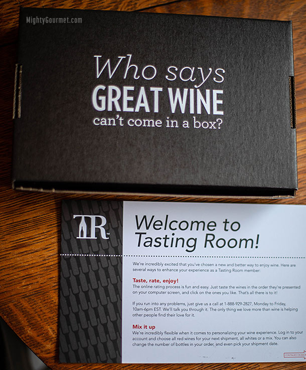 tasting room kit box and card