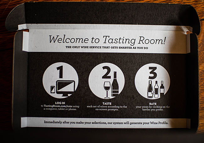 tasting room kit instructions