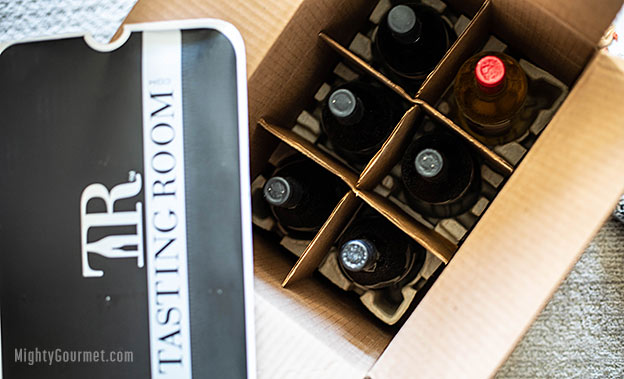 tasting room wine shipment box