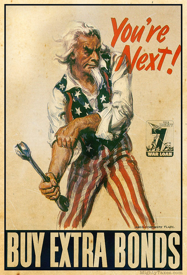uncle Sam buy bonds poster